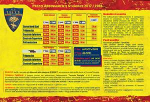 Campagna Abbonamenti, prezzi; brochure 2017-18