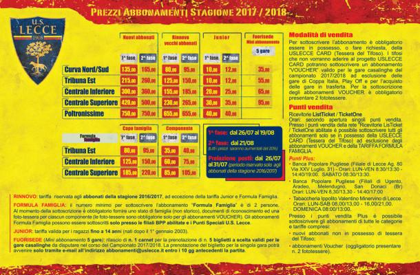 Campagna Abbonamenti, prezzi; brochure