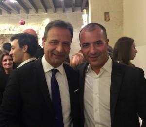 Il Presidente Paolo Pagliaro e il Presidente dell'U.S. Lecce, Saverio Sticchi Damiani