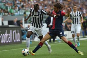 Tabanelli con la maglia del Cagliari