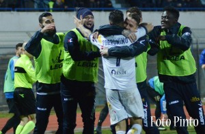 La gioia dopo il gol di Torromino