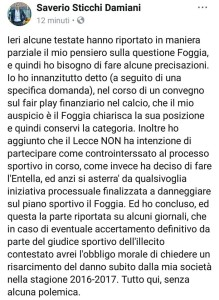Il post del presidente