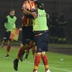 L'esultanza di Tabanelli dopo il gol