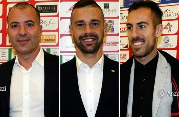 Il Presidente Saverio Sticchi Damiani, Franco Lepore e Marco Mancosu