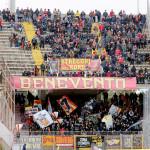 settore ospiti gara Lecce-Benevento