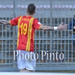 La Mantia dopo il gol al Foggia, 11° stagionale