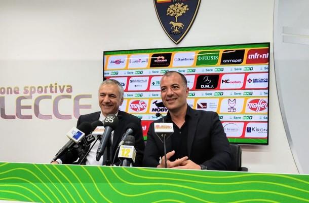 Mauro Meluso diesse del Lecce e il presidente Saverio Sticchi Damiani