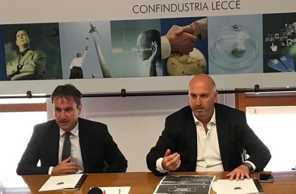 Giancarlo Negro, Presidente Confindustria, Corrado Liguori vicepresidente US Lecce