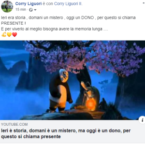Video e messaggio di Liguori
