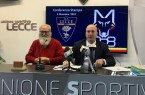 il prof. Giuseppe Serravezza e il vicepresidente del Lecce Corrado Liguori
