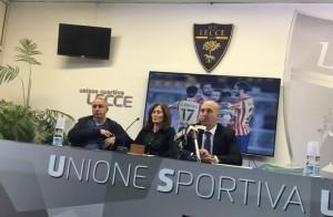Antonio Marti ammin. M908, Mimì Rucco Salentinamente e Corrado Liguori vicepresidente del Lecce