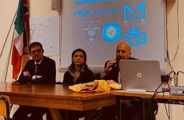Dario Carofalo, Silvia Carofalo, Corrado Liguori (foto pagina ufficiale US Lecce)