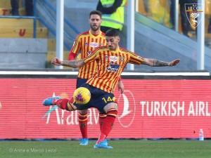Alessandro Deiola, centrocampista del Lecce, foto dell'US Lecce, Anza e Marco Lezzi